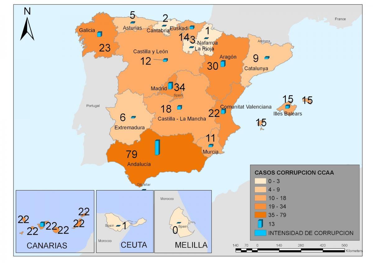 Espa a corrupci n constante campante y creciente 4c il blog - Casos de corrupcion en espana actuales ...